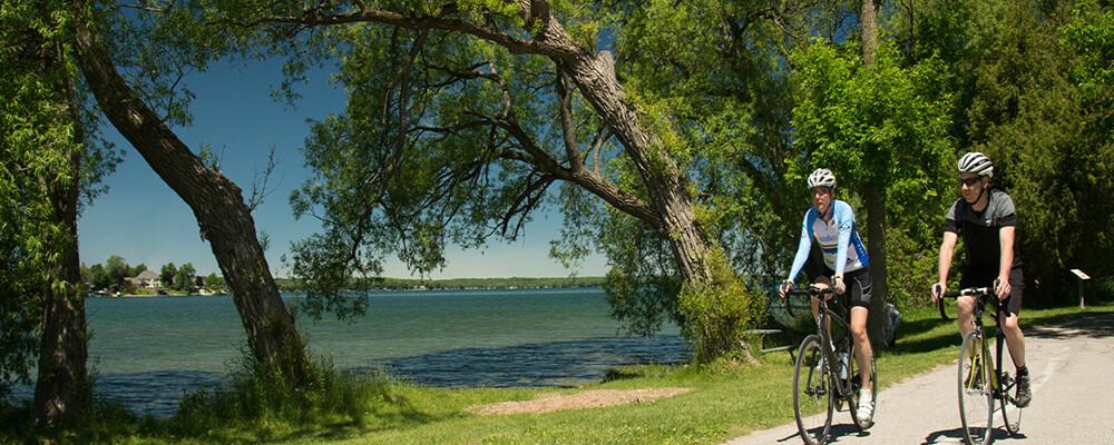 Cycle through Ontario's beautiful scenery
